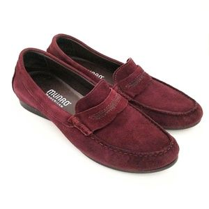 Munro American wine burgundy leather loafers